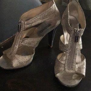 "Michael Kors 4"" silver dress shoes"